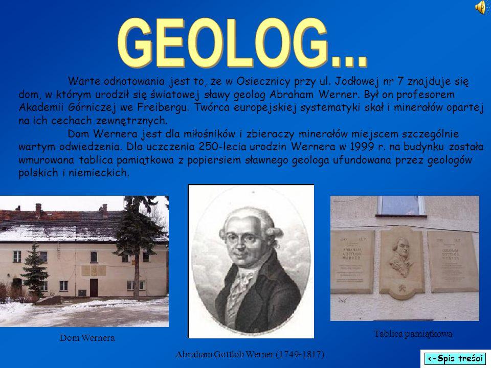 Warte odnotowania jest to, że w Osiecznicy przy ul. Jodłowej nr 7 znajduje się dom, w którym urodził się światowej sławy geolog Abraham Werner. Był on