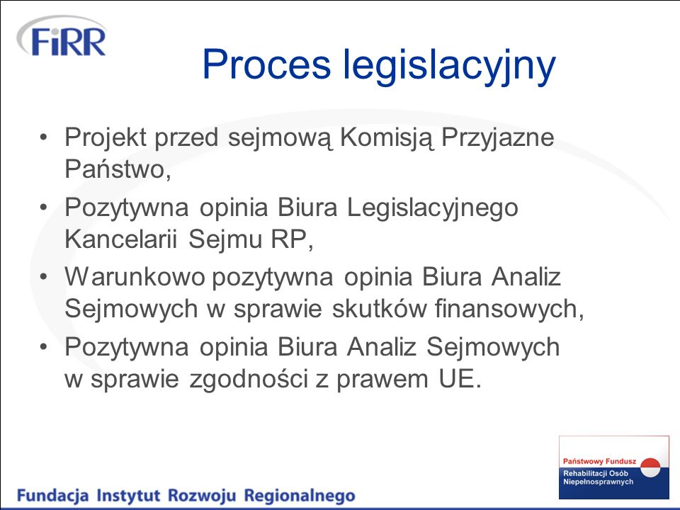 Proces legislacyjny Projekt przed sejmową Komisją Przyjazne Państwo, Pozytywna opinia Biura Legislacyjnego Kancelarii Sejmu RP, Warunkowo pozytywna op