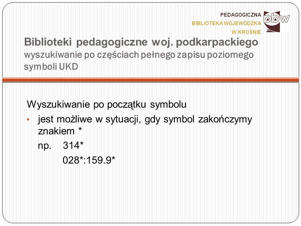 Biblioteki pedagogiczne woj.