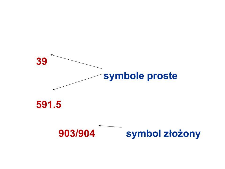39 symbole proste 591.5 903/904symbol złożony