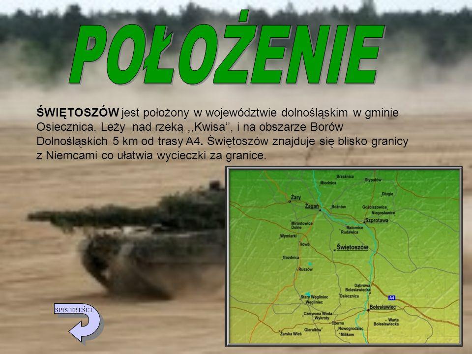 ŚWIĘTOSZÓW jest położony w województwie dolnośląskim w gminie Osiecznica. Leży nad rzeką,,Kwisa, i na obszarze Borów Dolnośląskich 5 km od trasy A4. Ś