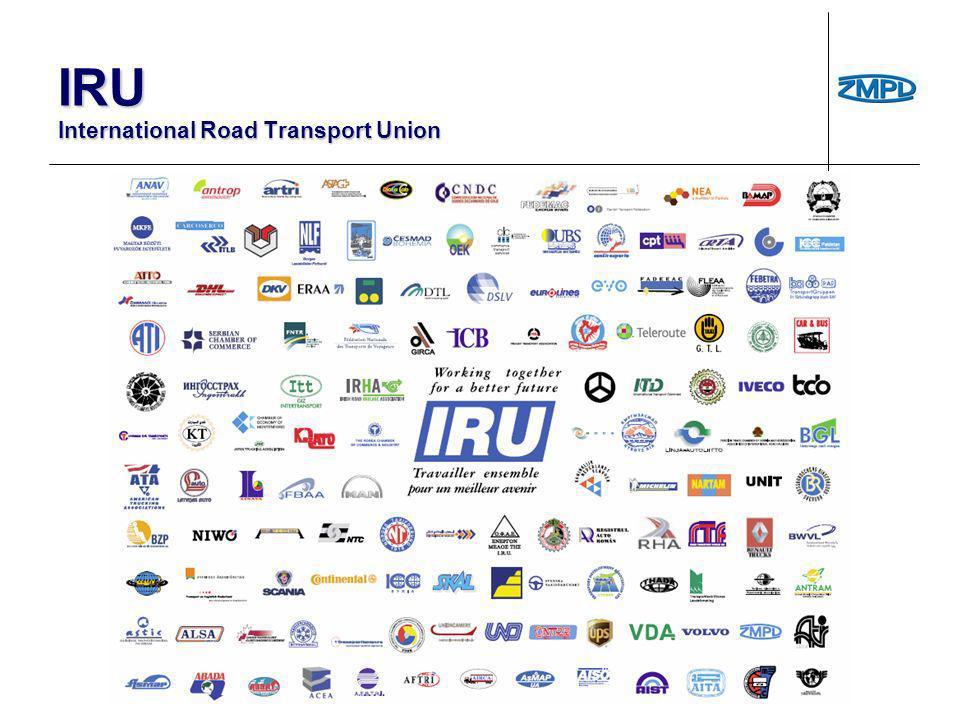 IRU poprzez wsparcie i zaangażowanie wszystkich swoich członków – stowarzyszeń: IRU poprzez wsparcie i zaangażowanie wszystkich swoich członków – stowarzyszeń: reprezentuje sektor transportu drogowego w rozmowach: z władzami publicznymi, podmiotami prywatnymi, mediami.