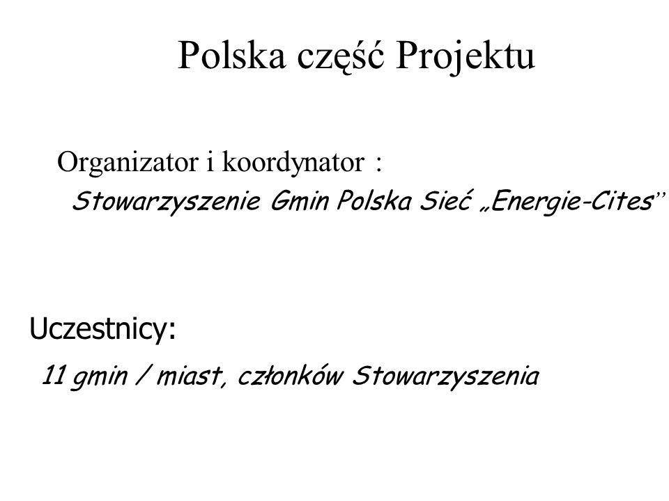 Polska część Projektu obejmuje łącznie 20 obiektów w 11 gminach: