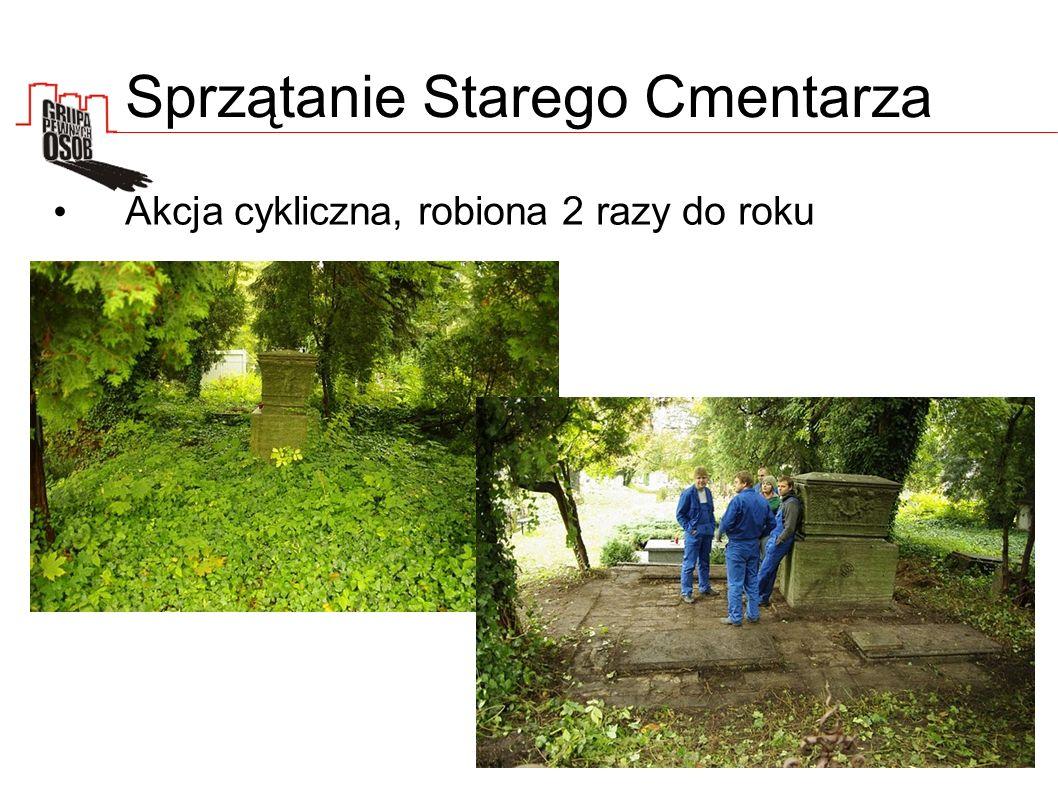 Sprzątanie Starego Cmentarza Akcja cykliczna, robiona 2 razy do roku