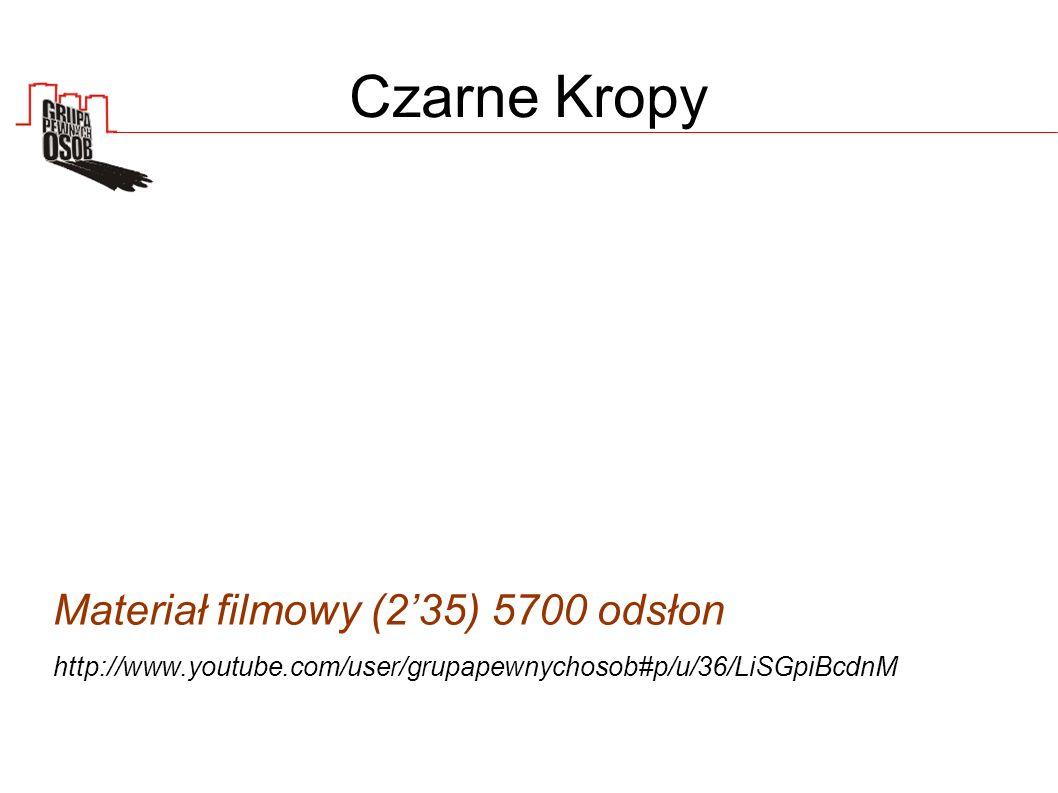Czarne Kropy Materiał filmowy (235) 5700 odsłon http://www.youtube.com/user/grupapewnychosob#p/u/36/LiSGpiBcdnM