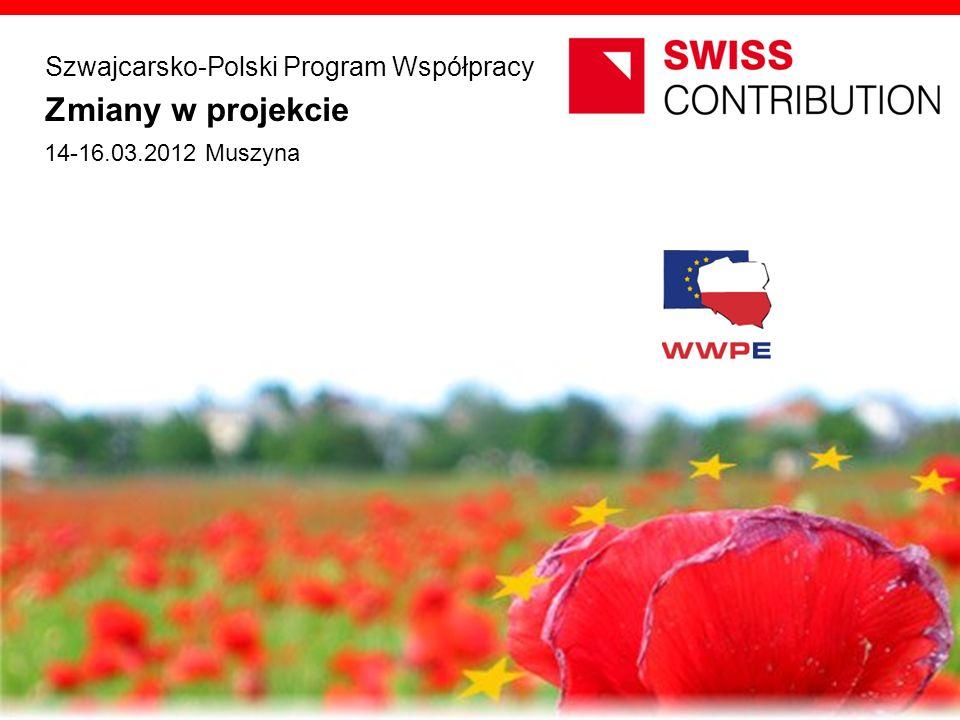 Zmiany w projekcie Szwajcarsko-Polski Program Współpracy opracowanie JEMS Architekci 14-16.03.2012 Muszyna