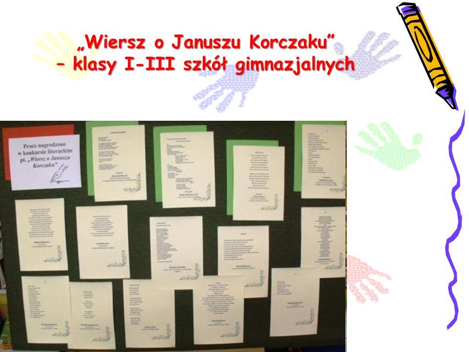Wiersz o Januszu Korczaku – klasy I-III szkół gimnazjalnych