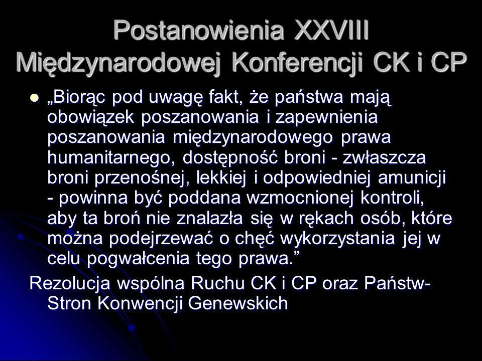 Postanowienia XXVIII Międzynarodowej Konferencji CK i CP Biorąc pod uwagę fakt, że państwa mają obowiązek poszanowania i zapewnienia poszanowania międ