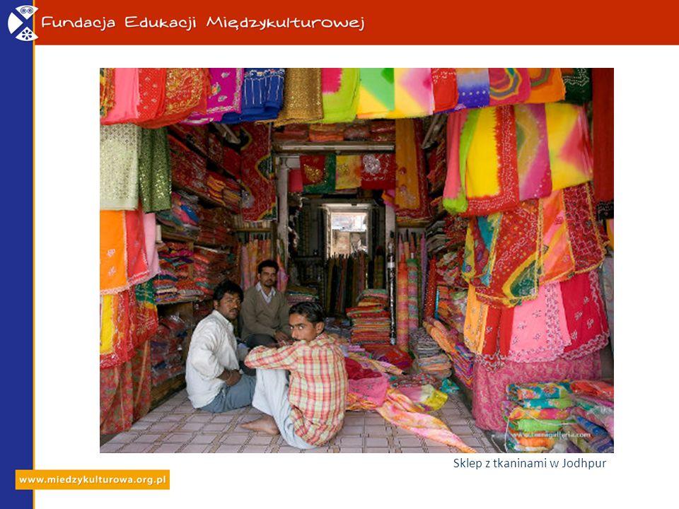 Sklep z tkaninami w Jodhpur