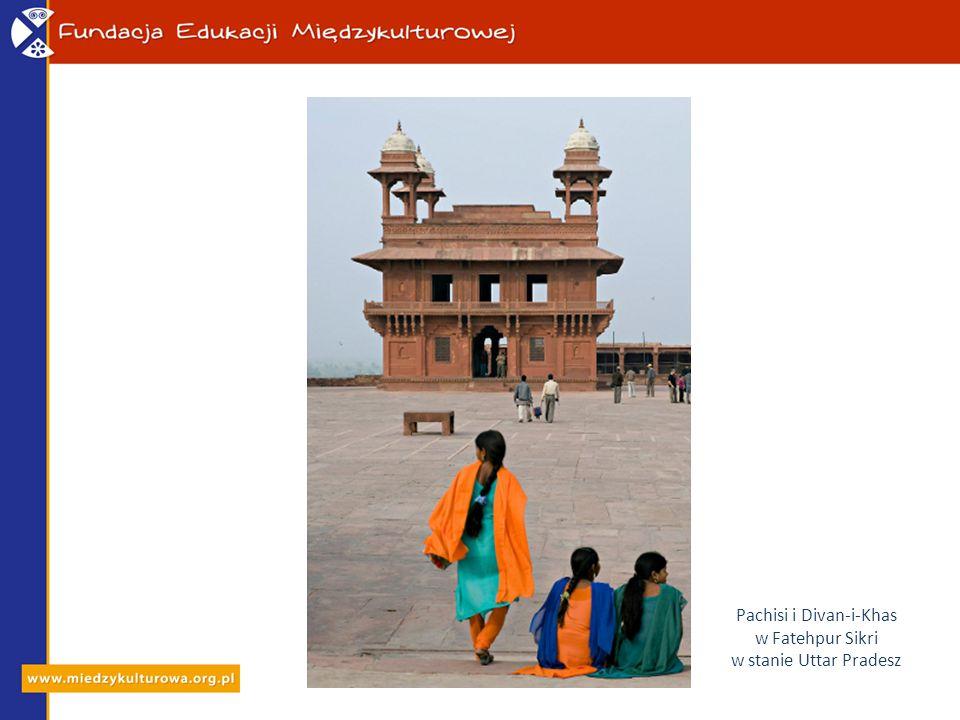 Pachisi i Divan-i-Khas w Fatehpur Sikri w stanie Uttar Pradesz