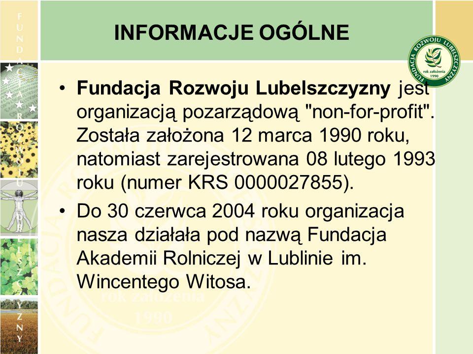 Fundacja Rozwoju Lubelszczyzny jest organizacją pozarządową