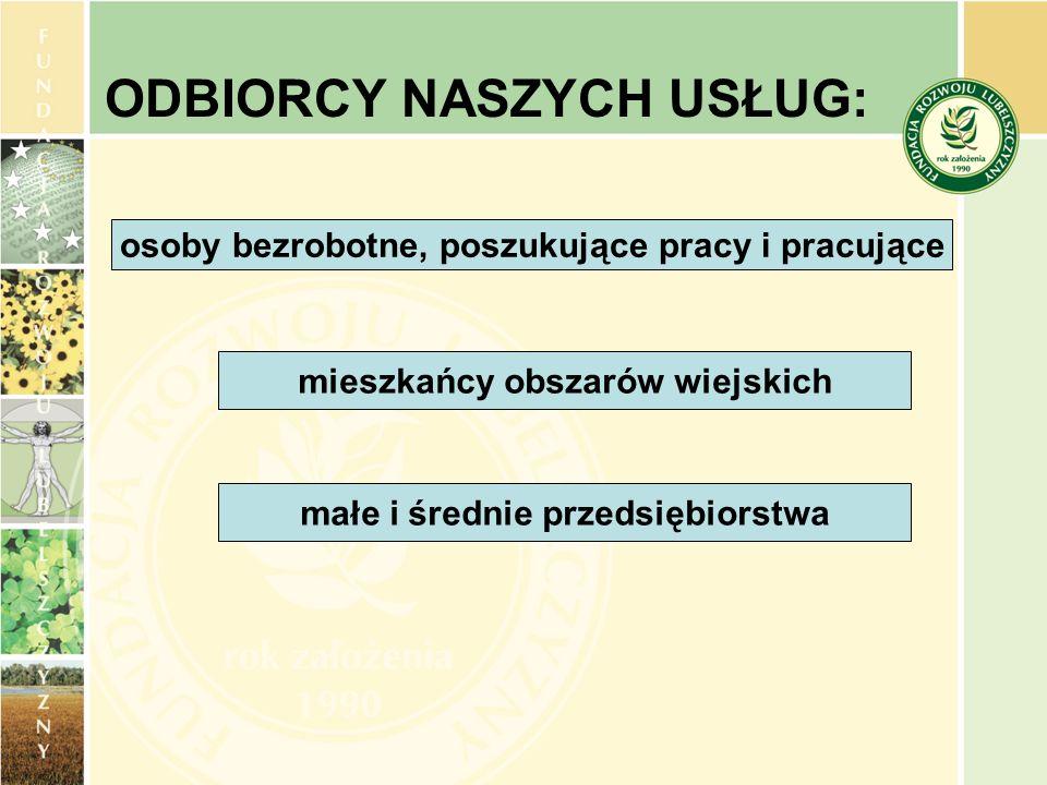 Prowadzimy Regionalny Ośrodek EFS w Białej Podlaskiej Jeden z 49 w Polsce nieodpłatnie oferujemy: - Szkolenia: jak skutecznie aplikować o środki, opracować projekt i nim zarządzać, jak efektywnie pomagać odbiorcom pomocy, specjalistyczne z zakresu zagadnień prawnych (zamówień publicznych, pomocy publicznej itp.) i rachunkowości.