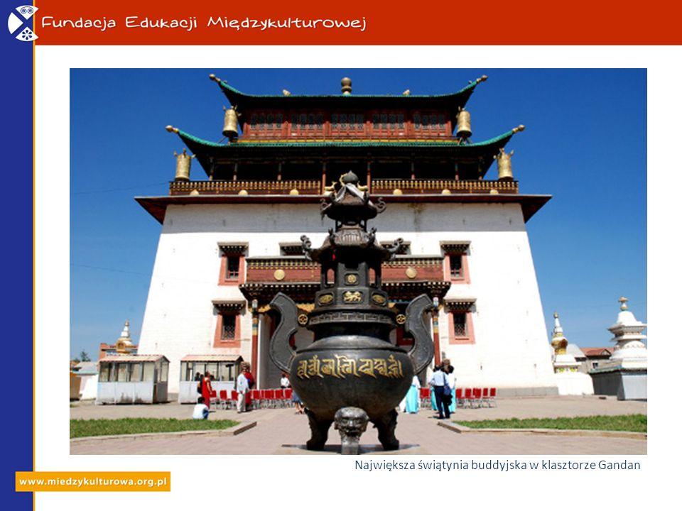 Największa świątynia buddyjska w klasztorze Gandan