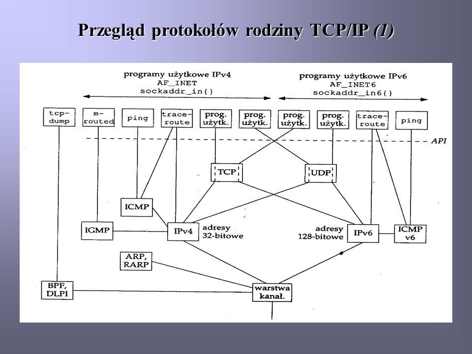 Przegląd protokołów rodziny TCP/IP (1)
