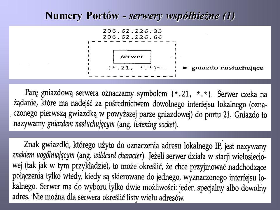 Numery Portów - serwery współbieżne (1)