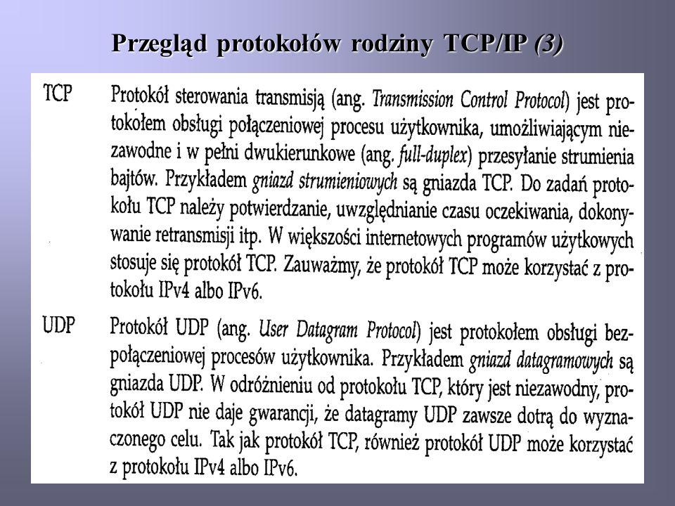 Przegląd protokołów rodziny TCP/IP (3)