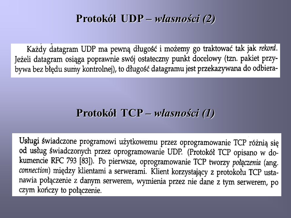 Protokół TCP – własności (2)