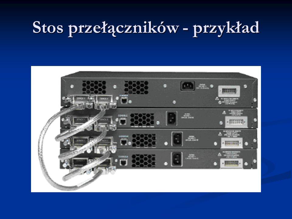 Stos przełączników - przykład