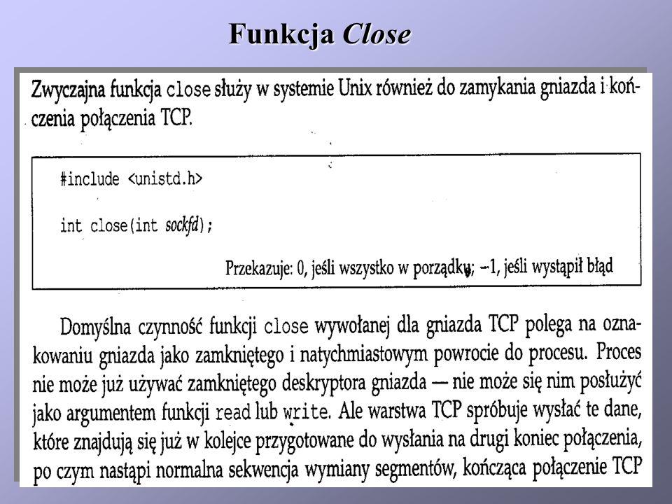 Funkcja Close