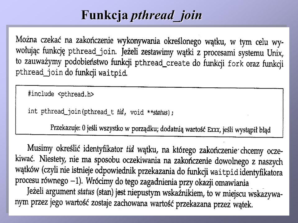Funkcja pthread_join