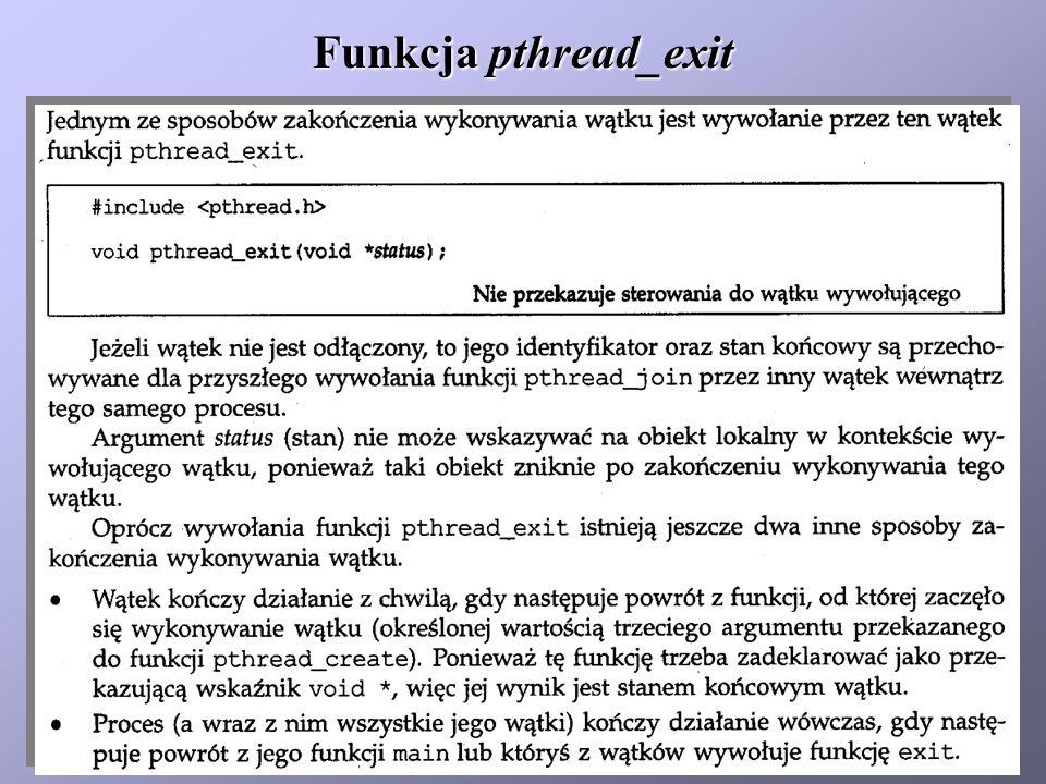 Funkcja pthread_exit