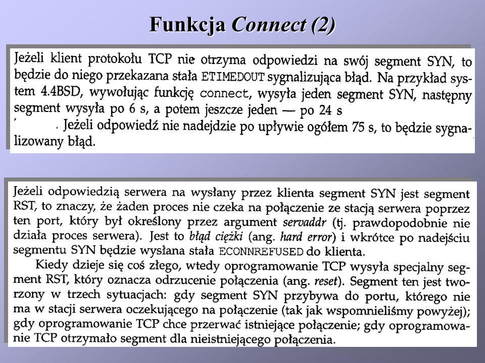 Funkcja Connect (3) Funkcja Bind (1)