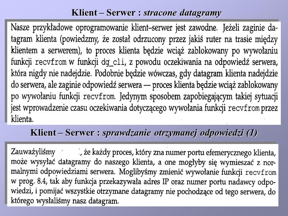 Klient : sprawdzanie otrzymanej odpowiedzi (2)