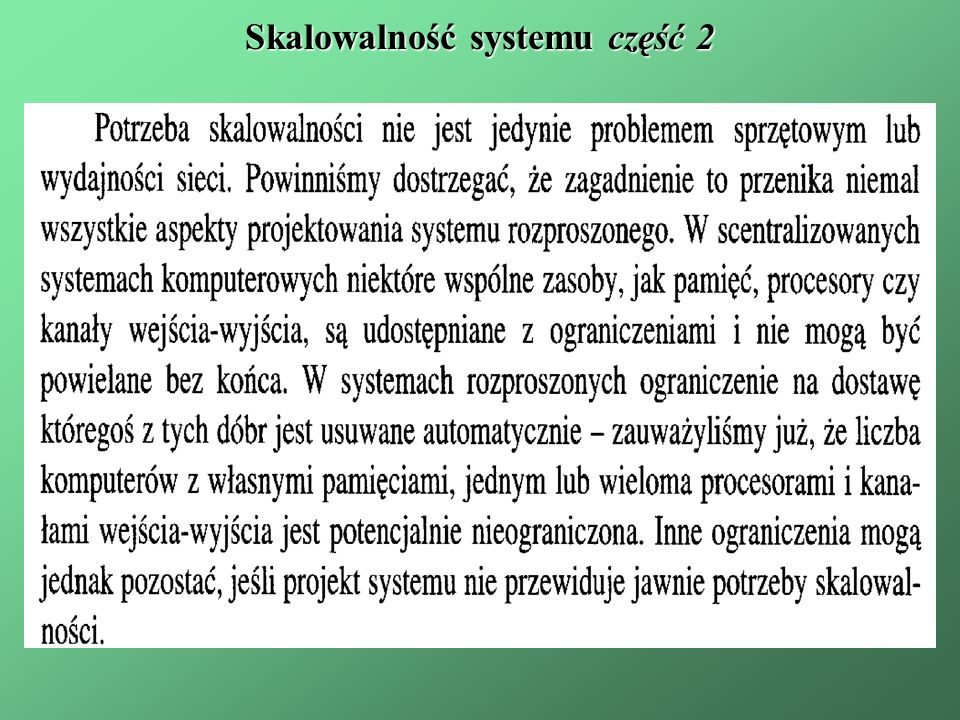 Skalowalność systemu część 2