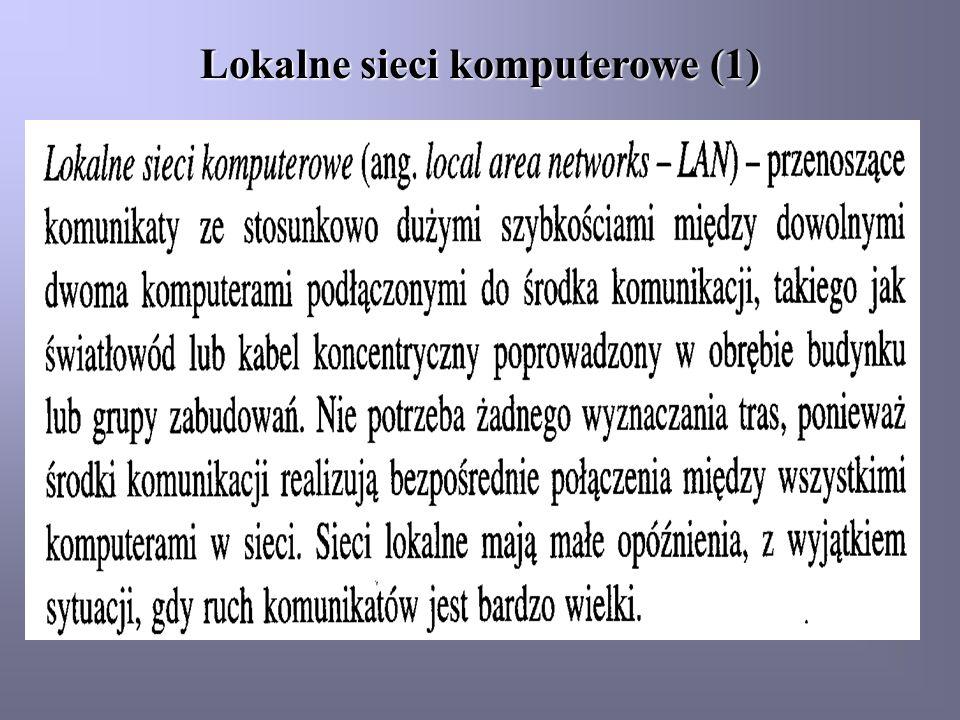 Lokalne sieci komputerowe (1)