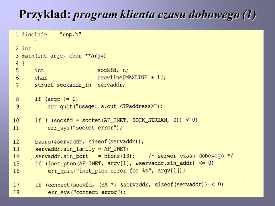 Przykład: program klienta czasu dobowego (1)