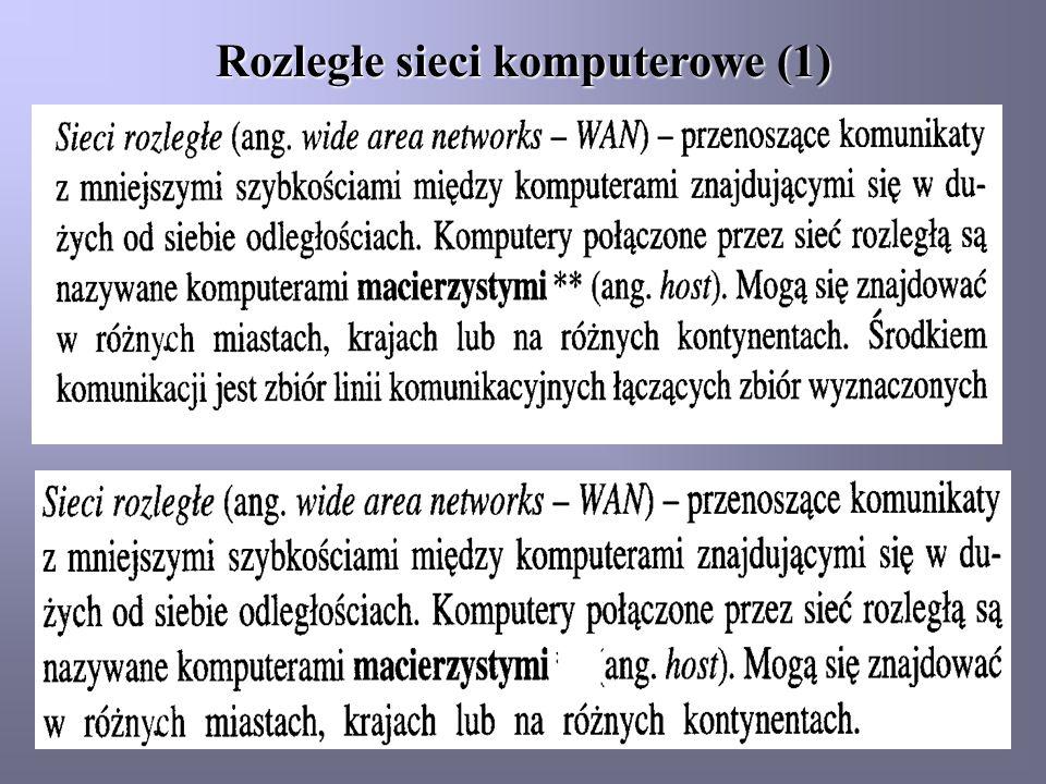 Rozległe sieci komputerowe (1)