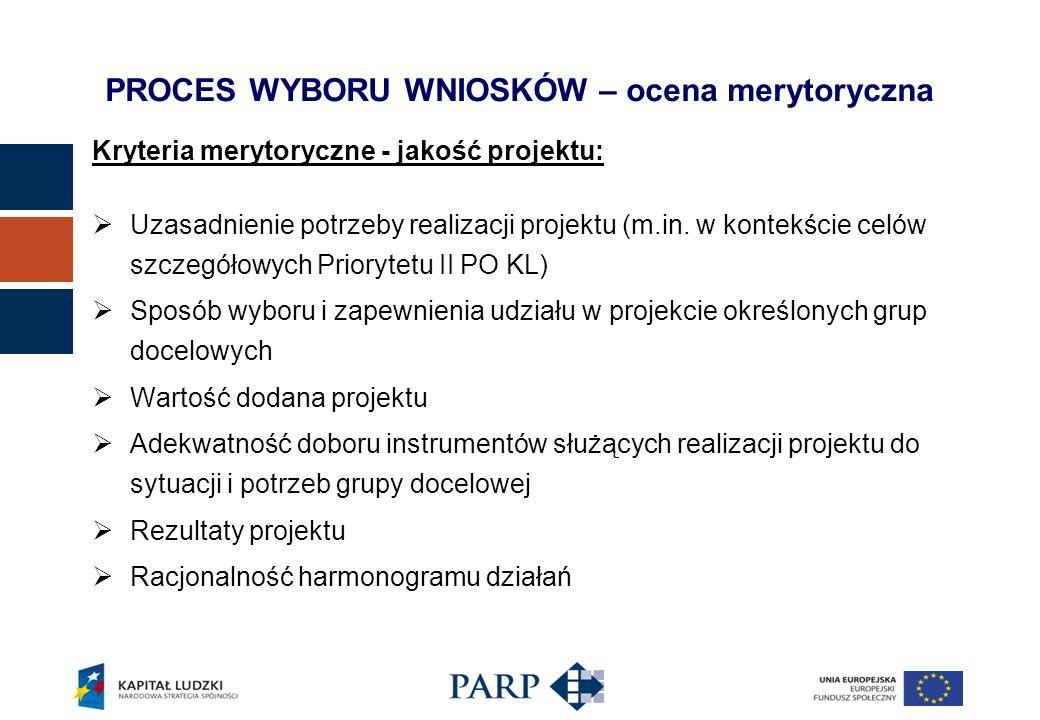 Kryteria merytoryczne - jakość projektu: Uzasadnienie potrzeby realizacji projektu (m.in.