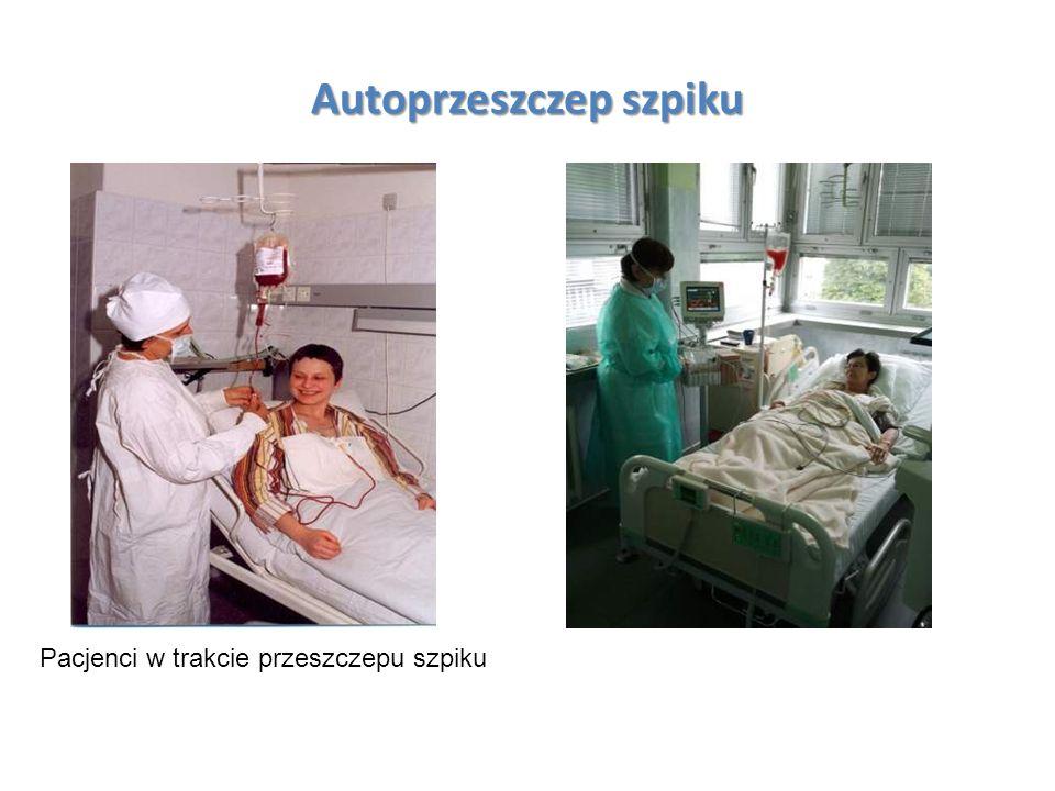 Autoprzeszczep szpiku Pacjenci w trakcie przeszczepu szpiku