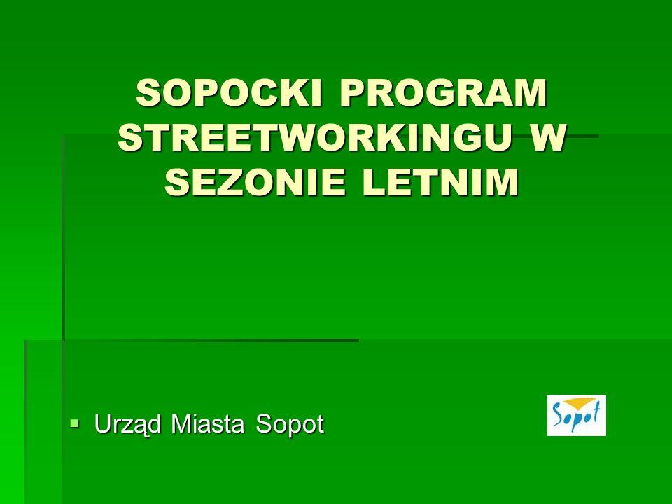 SOPOCKI PROGRAM STREETWORKINGU W SEZONIE LETNIM Urząd Miasta Sopot Urząd Miasta Sopot