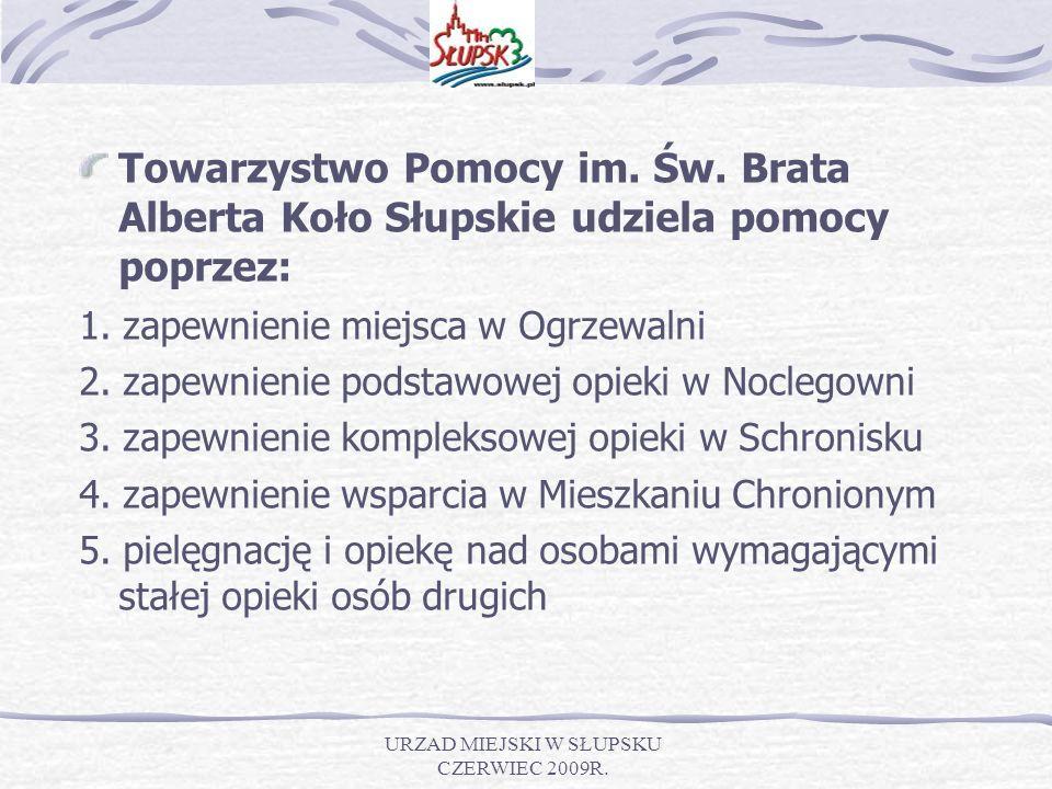 URZAD MIEJSKI W SŁUPSKU CZERWIEC 2009R. Towarzystwo Pomocy im.