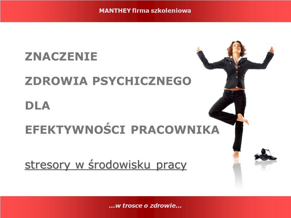 MANTHEY firma szkoleniowa …w trosce o zdrowie… Fakt.