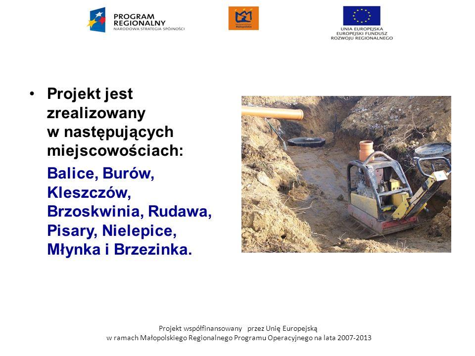 Projekt współfinansowany przez Unię Europejską w ramach Małopolskiego Regionalnego Programu Operacyjnego na lata 2007-2013 Projekt jest zrealizowany w
