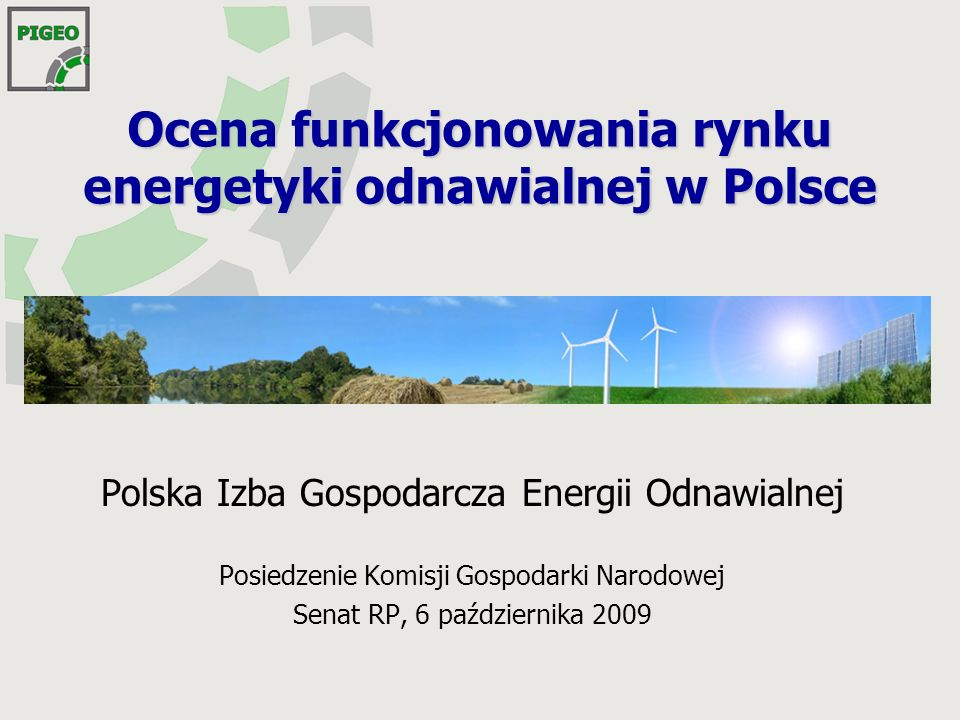 Plan prezentacji Cele strategiczne rozwoju OZE Ocena stanu rozwoju energetyki odnawialnej w Polsce Przedstawienie kluczowych barier rozwojowych sektora OZE Propozycje zmian