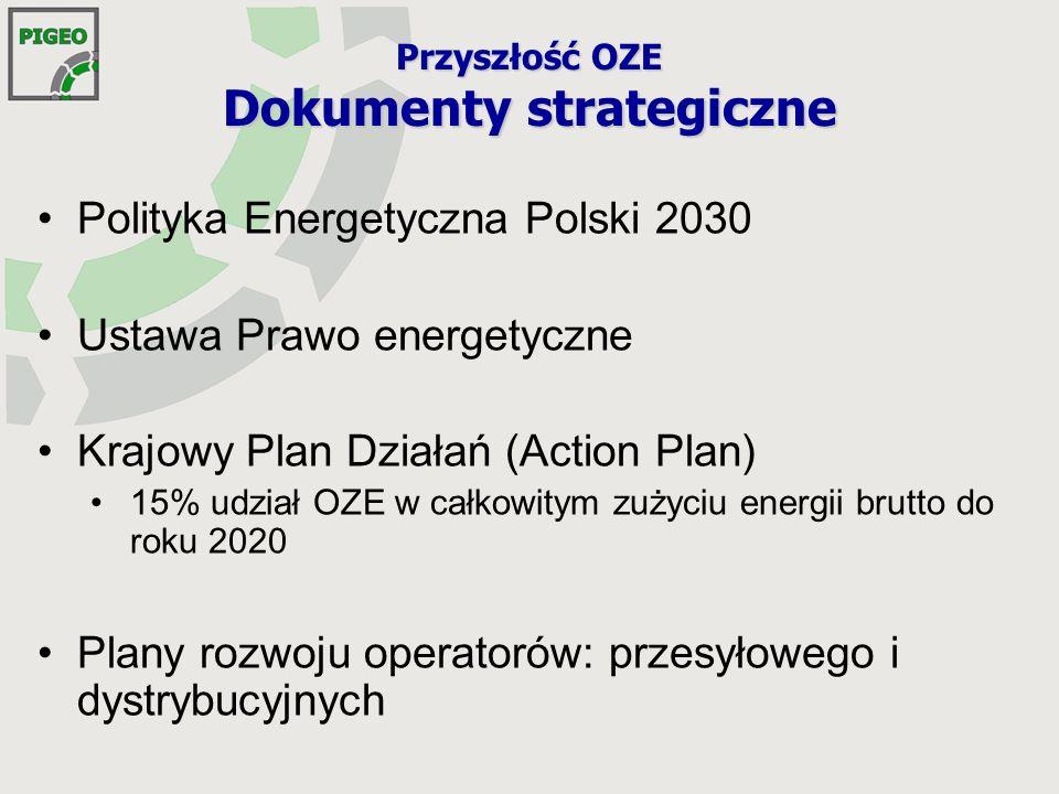 Moce wytwórcze energii elektrycznej brutto [MW] wg projektu Polityki energetycznej Polski do 2030 roku