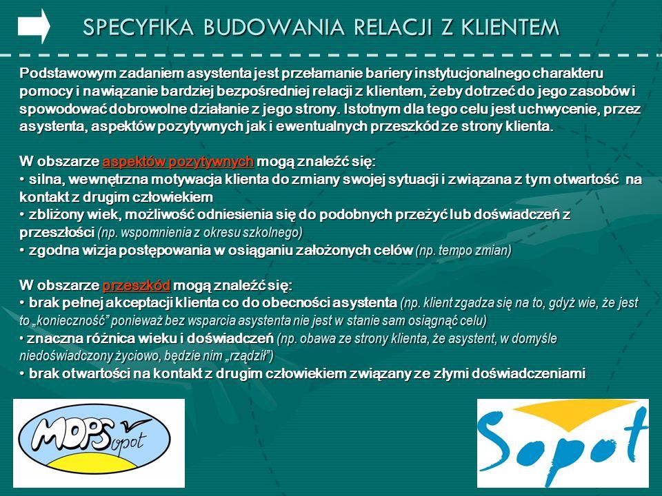 W 2009 roku w MOPS Sopot został stworzony zespół specjalistów zajmujących się problematyką bezdomności w skład którego wchodzą: pracownik socjalny ds.