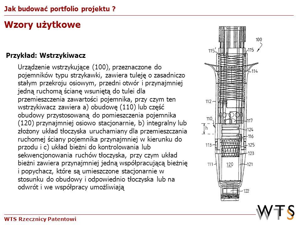 WTS Rzecznicy Patentowi Urządzenie wstrzykujące (100), przeznaczone do pojemników typu strzykawki, zawiera tuleję o zasadniczo stałym przekroju osiowy