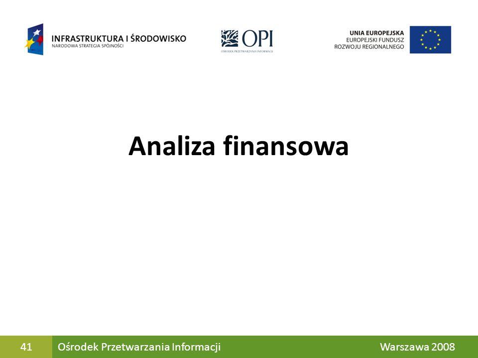 41 Analiza finansowa Jk Ośrodek Przetwarzania Informacji Warszawa 200841