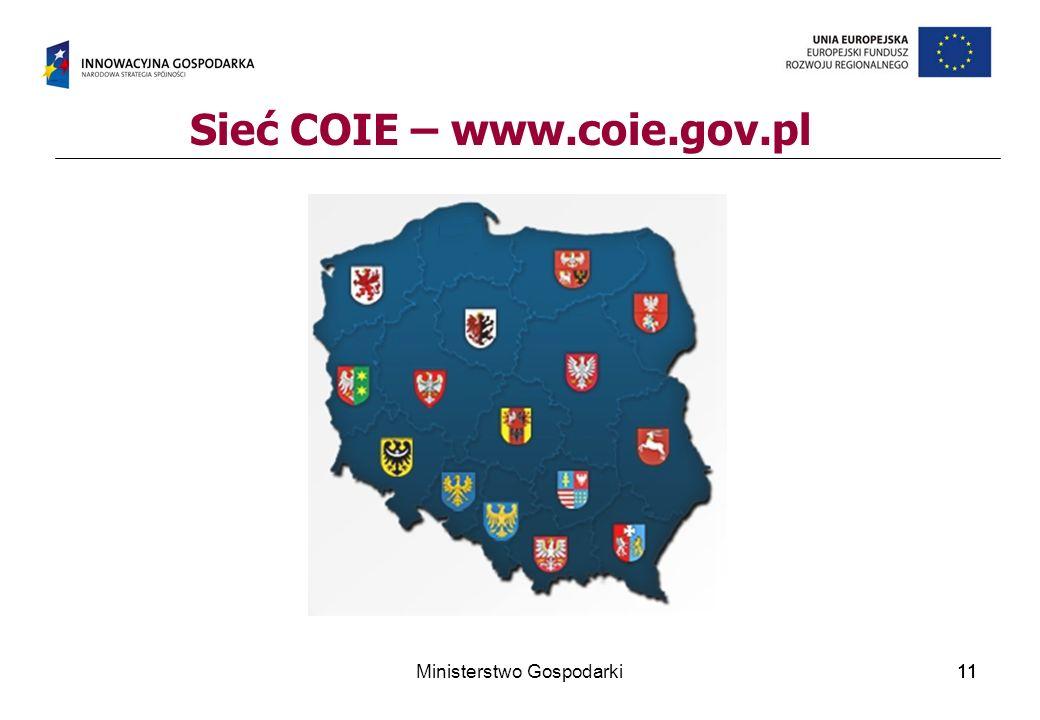 11 Sieć COIE – www.coie.gov.pl 11Ministerstwo Gospodarki