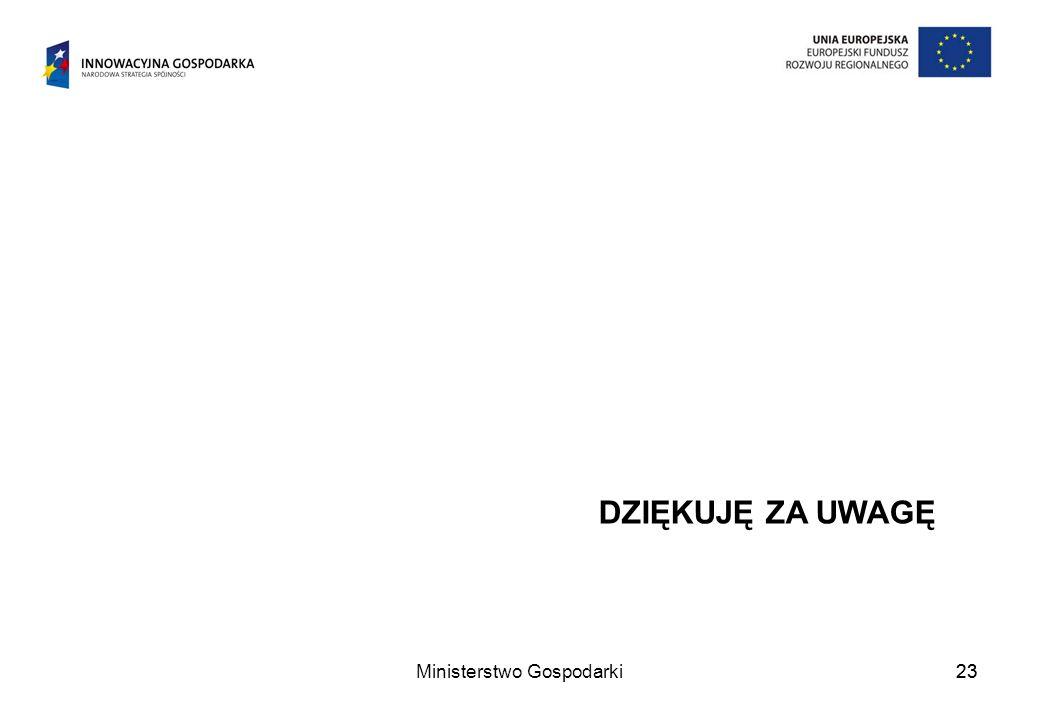 Ministerstwo Gospodarki23 DZIĘKUJĘ ZA UWAGĘ