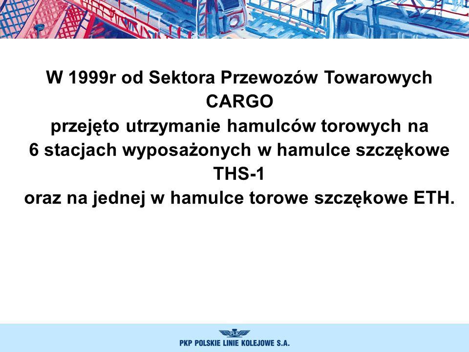 W 1999r od Sektora Przewozów Towarowych CARGO przejęto utrzymanie hamulców torowych na 6 stacjach wyposażonych w hamulce szczękowe THS-1 oraz na jedne