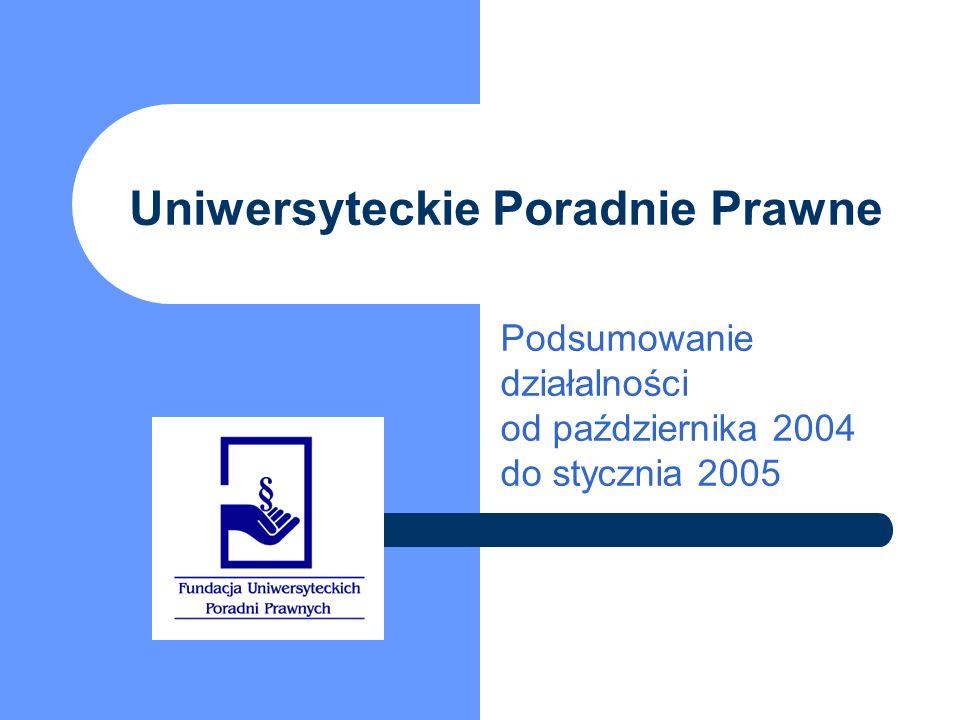 Uniwersyteckie Poradnie Prawne Podsumowanie działalności od października 2004 do stycznia 2005
