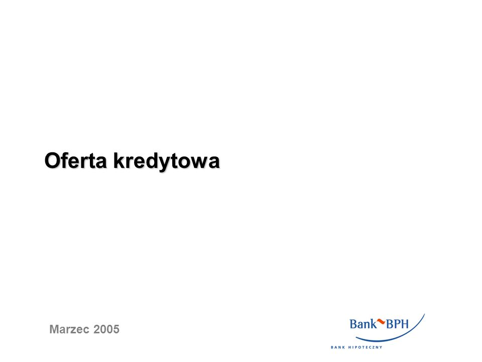 Oferta dla Jednostek Samorządu Terytorialnego (JST) Cel kredytu - restrukturyzacja zobowiązań JST (spłata deficytu budżetowego, spłata kredytów zaciągniętych w innych bankach, wykup obligacji, spłata pożyczek wobec NFOŚ, spłata zobowiązań wobec ZUS i US i inne) - finansowanie wszelkich inwestycji JST ( infrastrukturalnych, budowlanych, ekologicznych, itd.) - inne