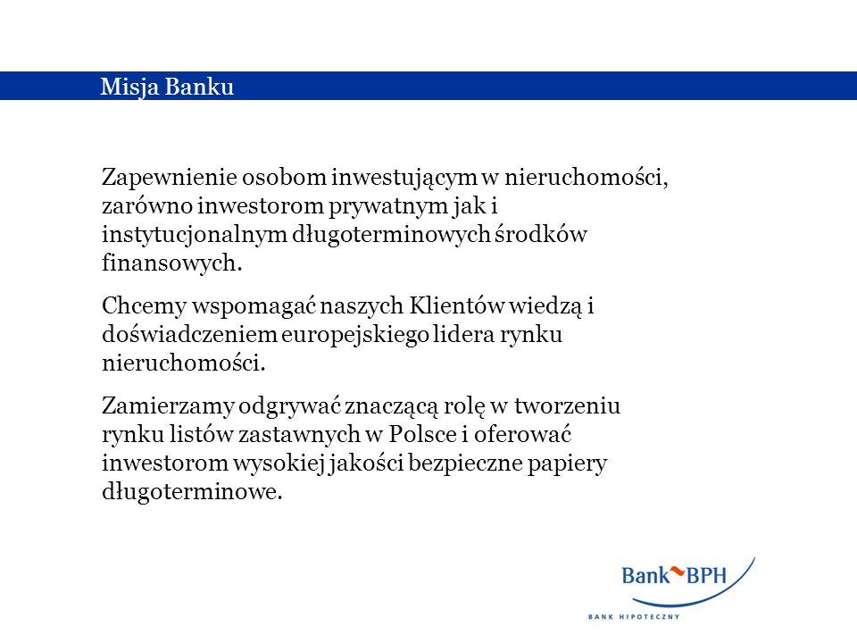 BPH Bank Hipoteczny SA jest specjalistycznym bankiem hipotecznym działającym w oparciu o Ustawę o listach zastawnych i bankach hipotecznych.