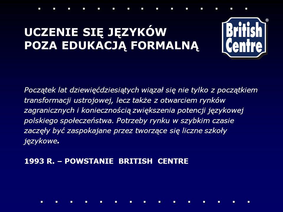 Początek lat dziewięćdziesi ą tych wiązał się nie tylko z początkiem transformacji ustrojowej, lecz także z otwarciem rynków zagranicznych i koniecznością zwiększenia potencji językowej polskiego społeczeństwa.