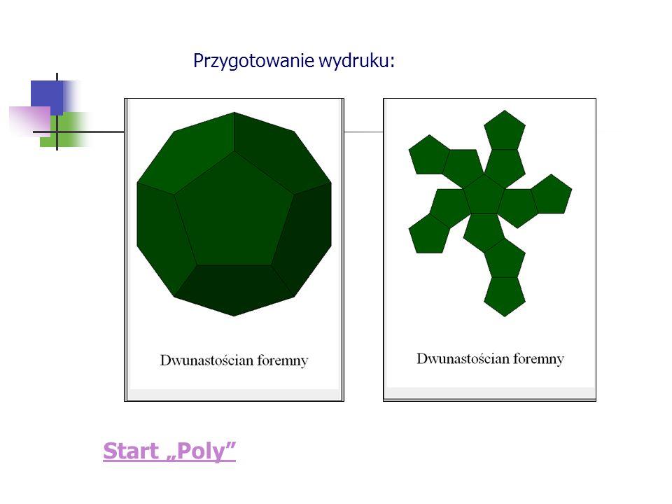 Start Poly Przygotowanie wydruku: